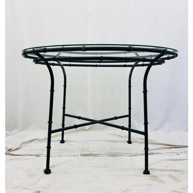 Anglo-Indian Vintage Faux Bamboo Style Table For Sale - Image 3 of 13