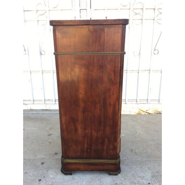 Antique Walnut & Brass Chest of Drawers - Image 7 of 11