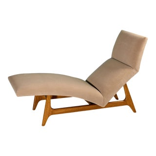 1950s Vintage Harvey Probber Chaise Lounge For Sale