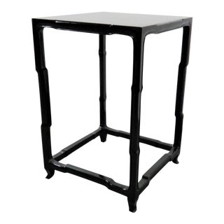 Chinese Black Lacquered Side Table For Sale