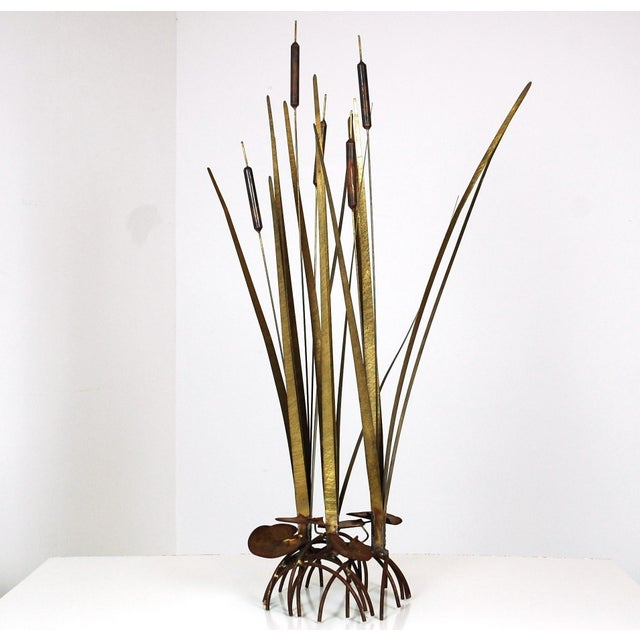 Mid Century Kinetic Sculpture of Cattails For Sale In Raleigh - Image 6 of 6