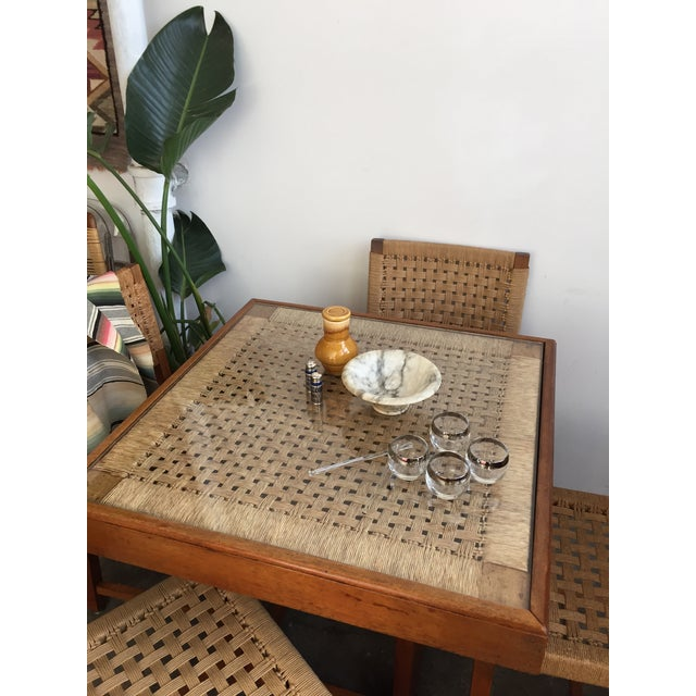 Mid Century Jute Dining Set For Sale - Image 9 of 10
