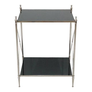 Contemporary Wade Accent End Table With Bottom Shelf For Sale