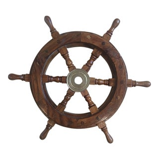 Small Solid Wood Ship Wheel