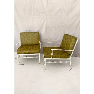 Vintage Cast Aluminum Faux Bamboo Patio Chairs- a Pair Preview