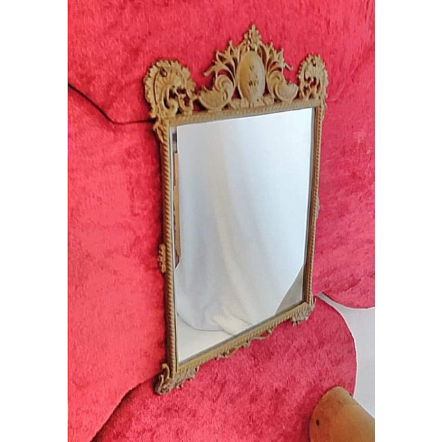 Country Antique Horn Coat & Hat Rack W/ Victorian Mirror For Sale - Image 3 of 5