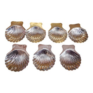 Vintage Sterling Silver Shell Dishes - Set of 7 For Sale