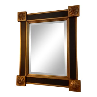Modern Federal Napoleonic Style Gold and Black Wall Mirror For Sale