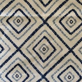 """Image of Blue and White Thibaut """"kozar"""" Linen Remnant 23"""" by 52"""" For Sale"""