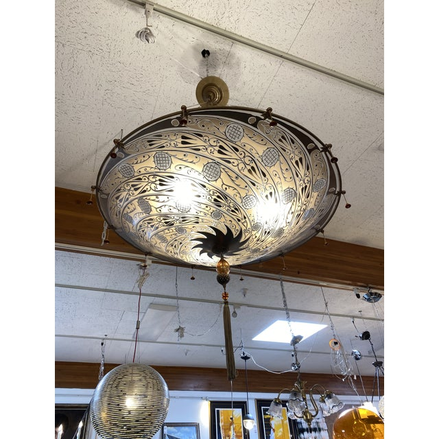 Gold Mariano Fortuny Archeo Venice Murano Glass Chandelier For Sale - Image 8 of 13