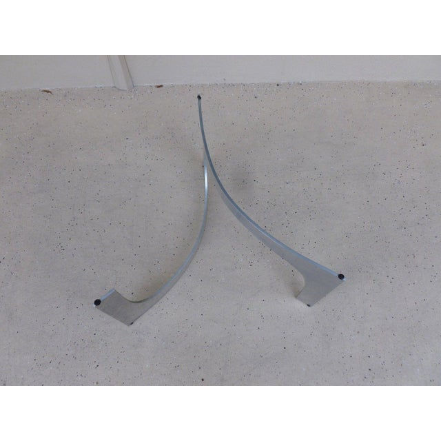 Mid Century Modern Aluminum Sculptural Table by Knut Hesterberg by Bacher Tische For Sale - Image 9 of 11