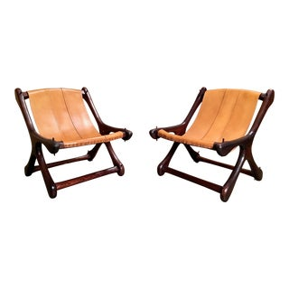 "Vintage Mid Century Don Shoemaker for Señal Furniture ""Sloucher"" Sling Chairs- A Pair For Sale"