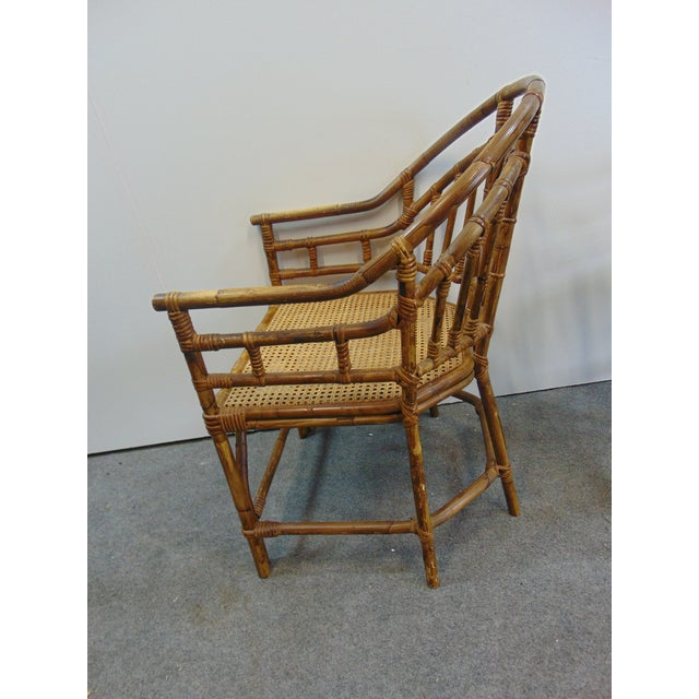 Mid Century Chinoiserie Bamboo Chairs - a Pair For Sale - Image 4 of 7