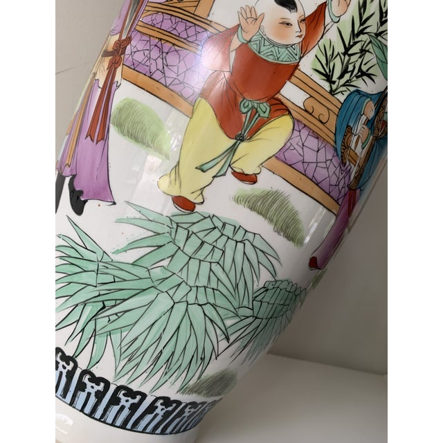 Mid 20th Century Vintage Famille Chinese Porcelain Vase For Sale - Image 9 of 13