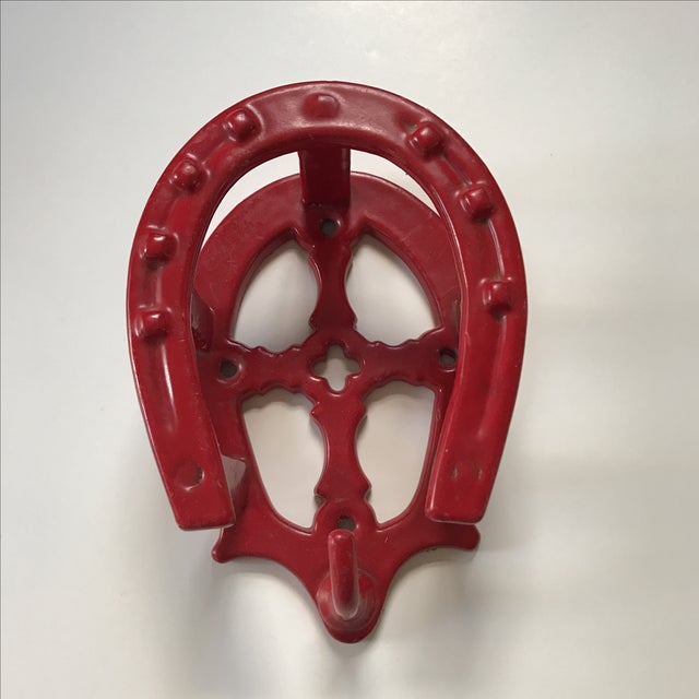 Red Horseshoe Hook For Sale - Image 5 of 5