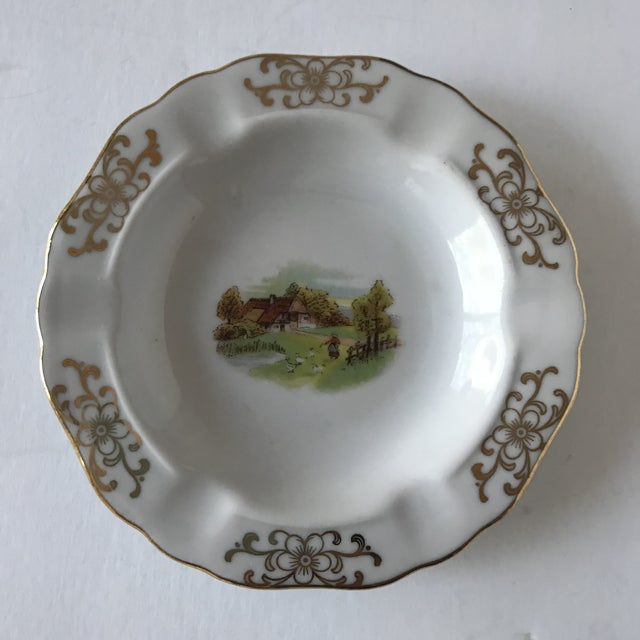 Petite Mid-Century Bavarian Ashtray With Farm Scene For Sale - Image 6 of 6