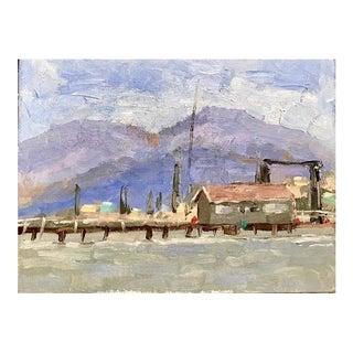 Old Benicia Ferry Mount Diablo Painting For Sale