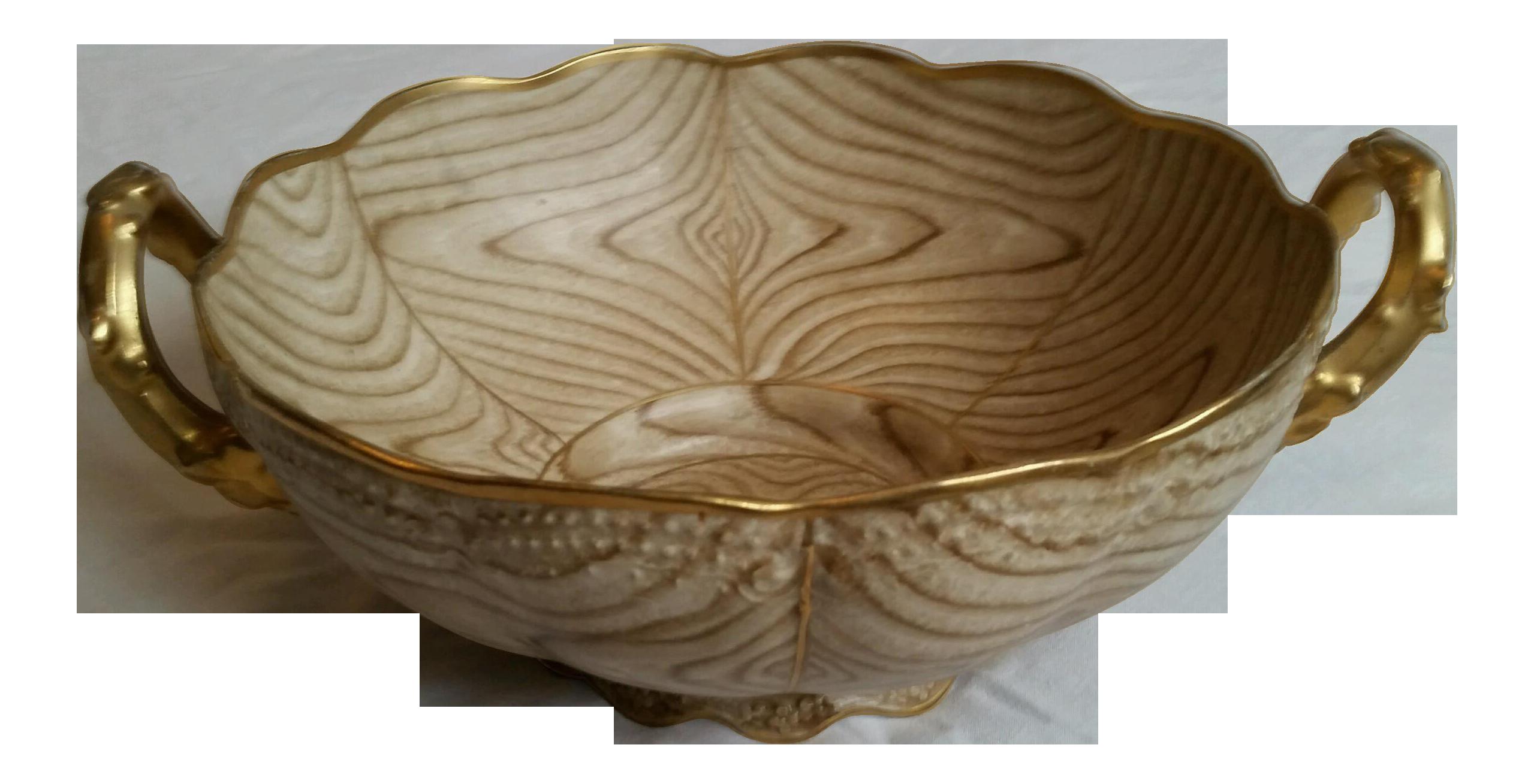Gilt Faux Bois Porcelain Bowl - Image 1 of 6  sc 1 st  Chairish & Gilt Faux Bois Porcelain Bowl   Chairish
