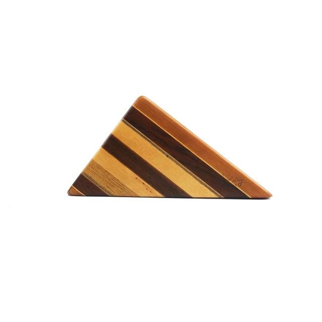 Brown Vintage Wood Desk Organizer For Sale - Image 8 of 10