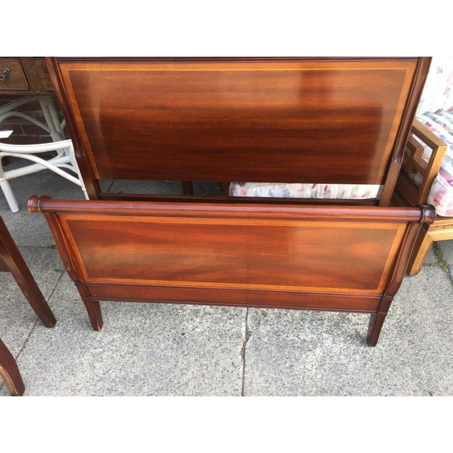 Pair Of Drexel Hampshire Twin Beds with rails For Sale In San Francisco - Image 6 of 8
