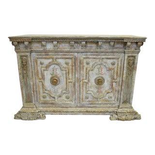 18th Century Hand Painted Italian Two Door Cupboard Gianni Versace Ex Property