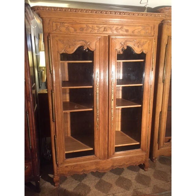 Early 19th Century French Carved Bibliotech Display Cabinet For Sale - Image 11 of 11