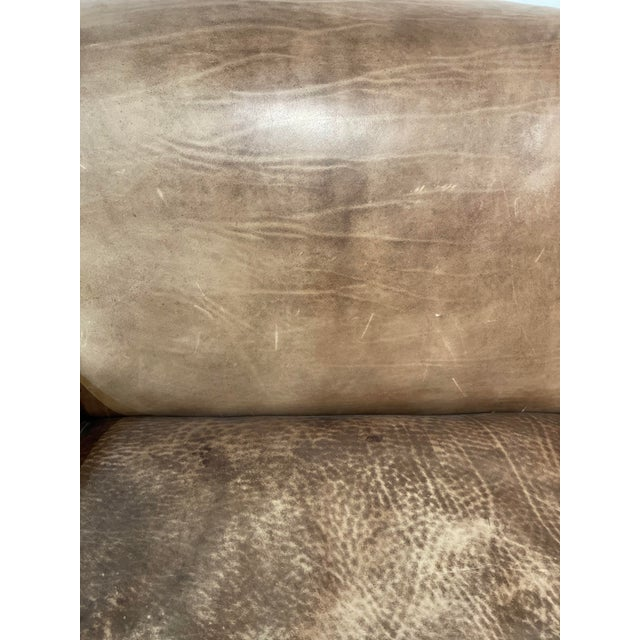 George Smith Leather Sofa For Sale - Image 9 of 12