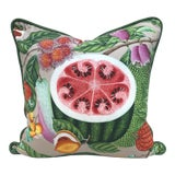 Image of Christian Lacroix Manuel Canovas Jamaica Watermelon Pillow For Sale