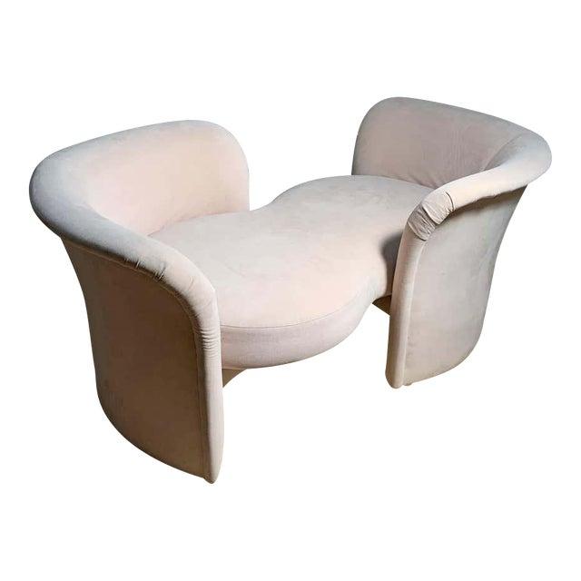 Tete-a-Tete Love Seat Sofa by Milo Baughman / manner of Vladimir Kagan For Sale