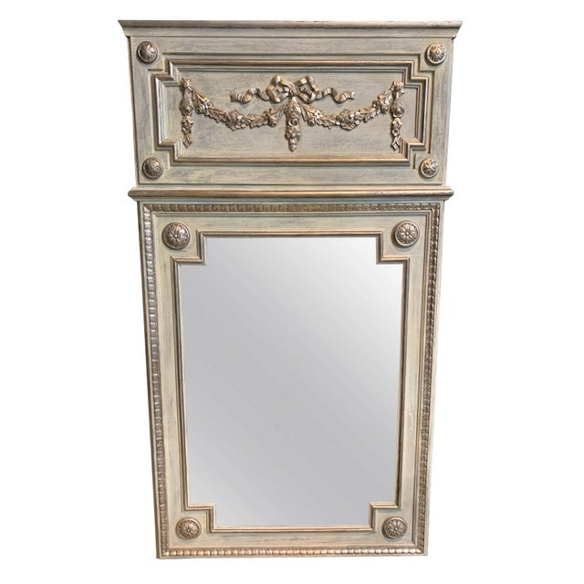 French Country French Style Marcelle Hall Mirror For Sale - Image 3 of 3