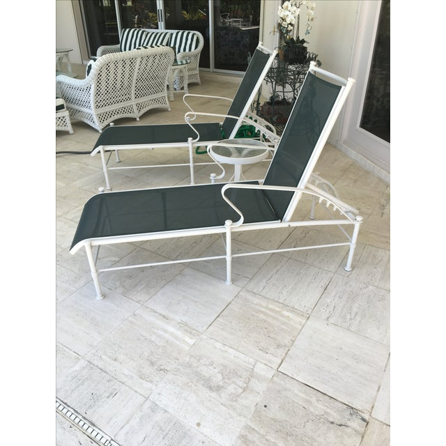 Cottage Woodard Nantucket Sling Outdoor Chaises - Set of 4 For Sale - Image 3 of 6