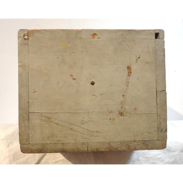 Gray 19th Century Original Grey Painted Large Candle Box from New England For Sale - Image 8 of 8