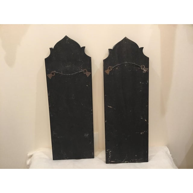 Early 20th Century Pair of Antique Venetian Glass Etched Mirrors For Sale - Image 5 of 10