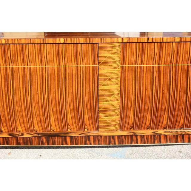 Bronze 1940sArt Deco Exotic Macassar Ebony Sideboard / Buffet For Sale - Image 7 of 13