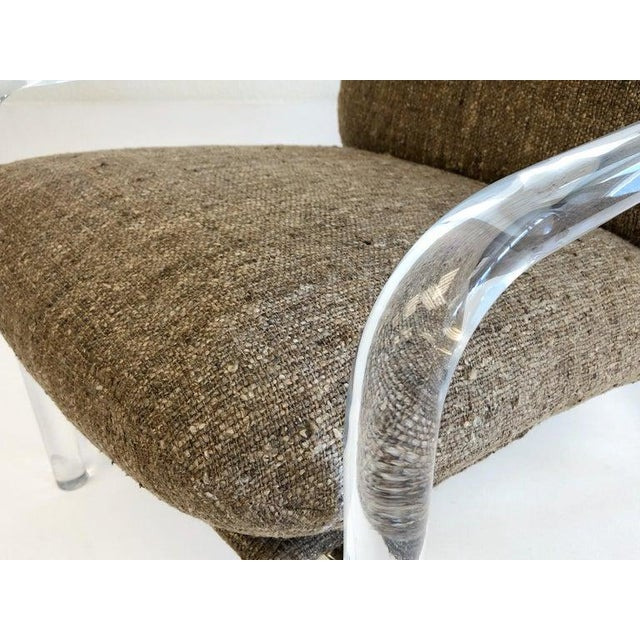 """""""Pipe Line Series 2"""" Acrylic and Chrome Lounge Chairs by Jeff Messerschmidt - a Pair For Sale - Image 9 of 11"""
