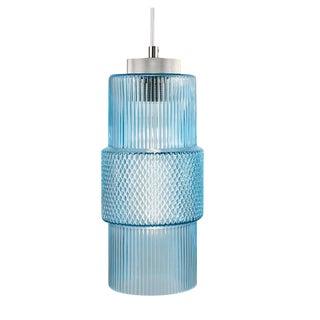 Laguna Knurled Aqua Color Pendant Light For Sale