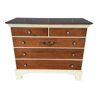 L. Hitchcock White Riverton Legacy 5-Drawer Chest For Sale