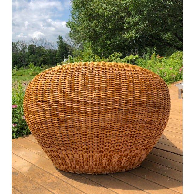 Vintage Wicker Orb Chair For Sale In Raleigh - Image 6 of 13