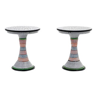 Contemporary One of a Kind Side Tables by Amy Kline - a Pair For Sale