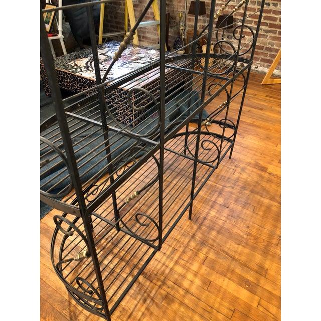 Vintage Black and Gold Baker's Rack For Sale In Atlanta - Image 6 of 13
