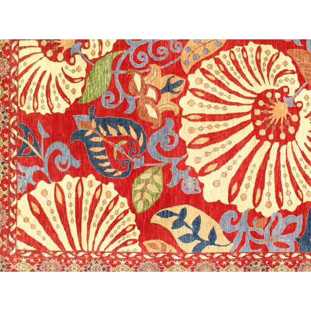 """Contemporary Pasargad N Y Genuine Suzani Design Wool Rug - 8'1"""" X 11'3"""" For Sale - Image 3 of 5"""