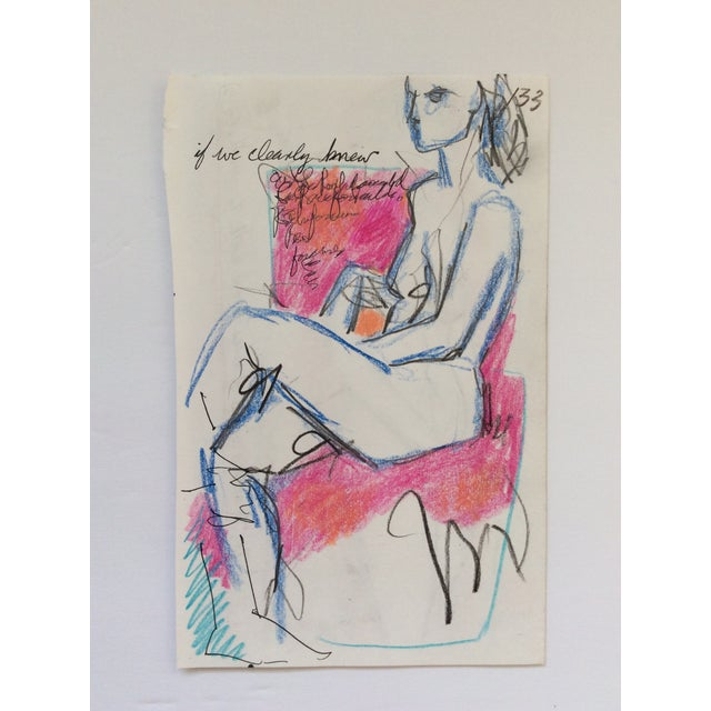 If We Clearly Knew Female Nude Drawing by James Bone 1990 For Sale - Image 4 of 4