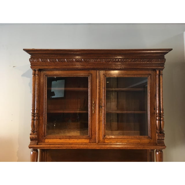 Antique French Carved Cabinet For Sale In Chicago - Image 6 of 8