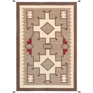 Contemporary Navajo Style Wool Area Rug - 5′10″ × 8′10″ For Sale