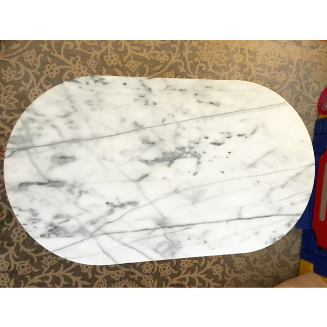 West Elm Marble Coffee Table - Image 3 of 6