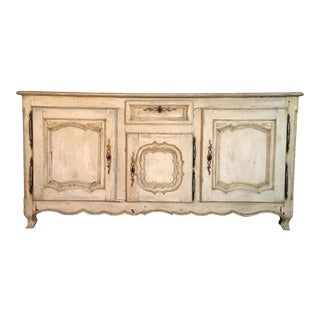 Antique 18th Century French Buffet, Cream Color For Sale