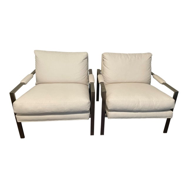 Milo Baughman 951 Lounge Design Classic Chairs - a Pair For Sale