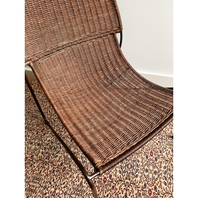 1990s wicker lounge chair in great vintage condition with some minor abrasions and a few spots of wicker missing...