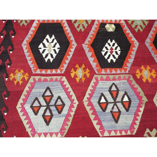 Vintage Turkish Kilim Rug - 6′6″ × 12′5″ - Image 9 of 10