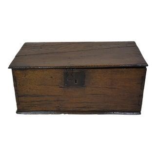 """English Oak """"Bible"""" Box--Circa 1680-1750 For Sale"""